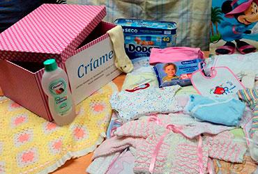 Canastillas con material para bebé